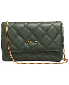 DKNY Sofia Leather Clutch Crossbody, Created for Macy's