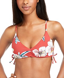 Roxy Juniors' Beach Classics Printed Triangle Bikini Top