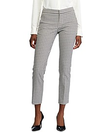 Glen Plaid-Print Stretch Skinny Pants