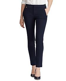 Lauren Ralph Lauren Petite Stretch Straight-Leg Pants