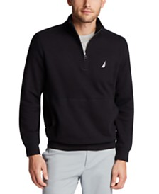 Nautica Mens Classic-Fit Quarter-Zip Fleece Sweatshirt