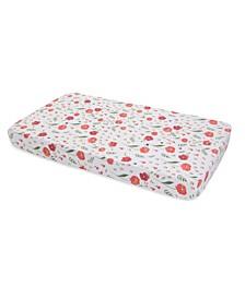 Summer Poppy Cotton Muslin Crib Sheet