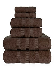 American Dawn Heirloom Manor Estella Lynx Fine Zero Twist 6 Piece Bath Towel Set