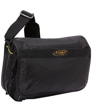A. Saks Expandable Messenger Bag