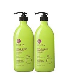 Luseta Beauty Apple Cider Vinegar Shampoo & Conditioner Set 67.6 Ounces