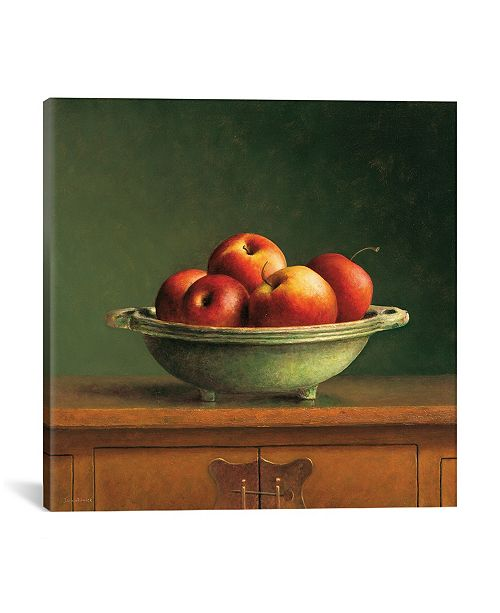 """iCanvas Apples by Jos Van Riswick Wrapped Canvas Print - 18"""" x 18"""""""