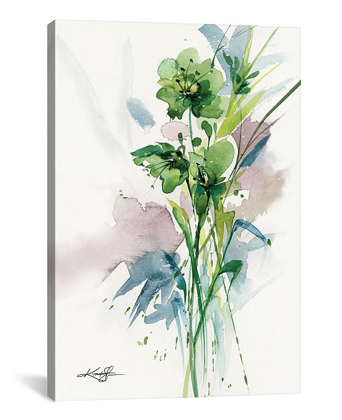 """iCanvas Green Bliss Ii by Kathy Morton Stanion Wrapped Canvas Print - 26"""" x 18"""""""