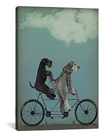 Schnauzer Tandem by Fab Funky Wrapped Canvas Print Collection