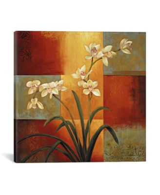 """White Orchid by Jill Deveraux Wrapped Canvas Print - 18"""" x 18"""""""