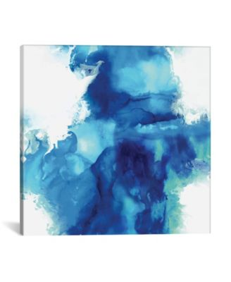 """Ascending In Blue I by Daniela Hudson Wrapped Canvas Print - 18"""" x 18"""""""