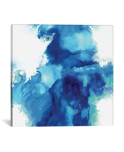 "iCanvas Ascending In Blue I by Daniela Hudson Wrapped Canvas Print - 18"" x 18"""