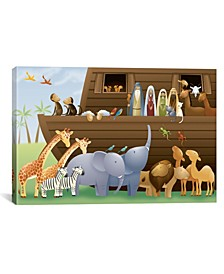 "Noah'S Ark by Unknown Artist Wrapped Canvas Print - 18"" x 26"""