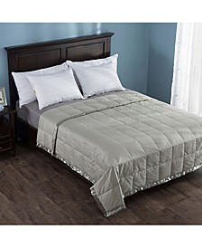 Lightweight Down Blanket with Satin Weave Full/Queen