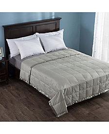 Puredown Lightweight Down Blanket with Satin Weave Full/Queen