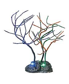 Lit Spooky Sparkle Trees Figurines
