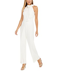 Bow-Neck Halter Jumpsuit