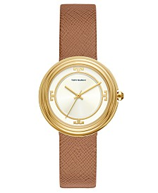 Tory Burch Women's Bailey Brown Leather Strap Watch 34mm