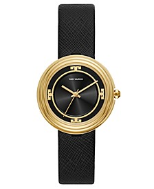 Women's Bailey Black Leather Strap Watch 34mm