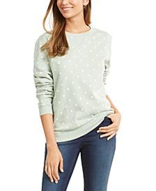 Petite Printed Fleece Sweatshirt, Created for Macy's