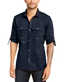 I.N.C. Men's D-Ring Utility Shirt, Created for Macy's