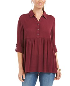 Roll-Sleeve Oversized Shirt, Created for Macy's