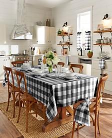 "Elrene Farmhouse Living Buffalo Check Tan/White 52""x 52"" Tablecloth"