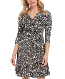 Karen Kane Floral Faux-Wrap Dress