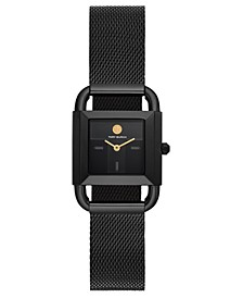 Women's Phipps Black-Tone Stainless Steel Mesh Bracelet Watch 24mm