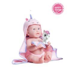 "La Newborn 17"" All Vinyl Real Girl Unicorn Baby Doll"