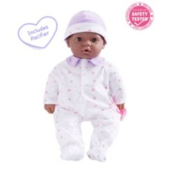 """La Baby African American 16"""" Soft Body Baby Doll Purple Outfit"""