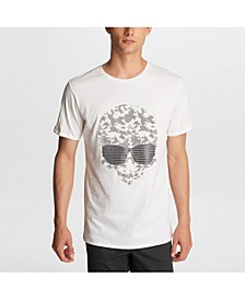 Paris Men's Camo Skull Print T-Shirt