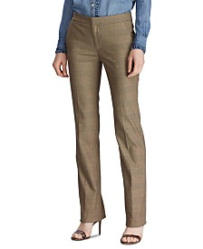 Lauren Ralph Lauren Glen Plaid-Print Straight-Leg Pants