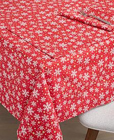"Fiesta Snowflake Print Tablecloth, 60"" X 120"""