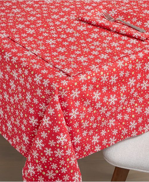 Fiesta Snowflake Print Table Linen Collection