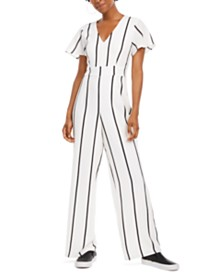 Crystal Doll Juniors' V-Neck Jumpsuit