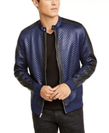 I.N.C. Men's Quilted Knit Vacation Jacket, Created for Macy's