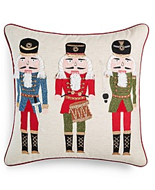 "Nutcracker 18"" x 18"" Decorative Pillow, Created for Macy's"