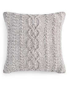"""Chenille 20"""" x 20"""" Decorative Pillow, Created For Macy's"""