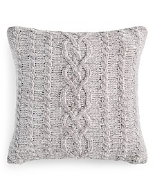 "Martha Stewart Collection Chenille 20"" x 20"" Decorative Pillow, Created For Macy's"