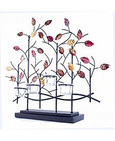 Tree Lacquered Table Decor and Votive Holder