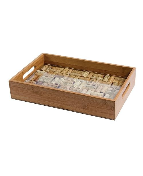 Oenophilia Bamboo Service Tray of Glass