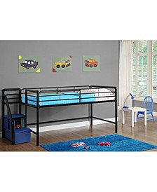 Kaden Junior Twin Loft Bed with Storage Steps