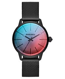 Women's Castilla Black Stainless Steel Mesh Bracelet Watch 38mm