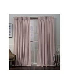 Exclusive Home Curtains Velvet Heavyweight Pinch Pleat Curtain Panel Pair