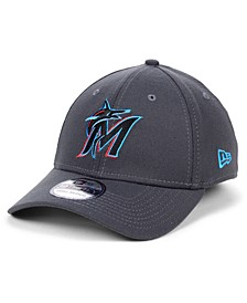 Miami Marlins Charcoal Classic 39THIRTY Cap