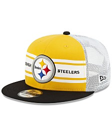 New Era Pittsburgh Steelers Classic 77 Stripe Mesh 9FIFTY Cap