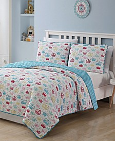 Kids Zone Priscilla 3 Piece Quilt Set, Full