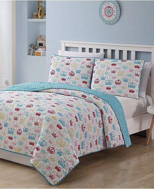 American Home Fashion Kids Zone Priscilla 3 Piece Quilt Set, Full