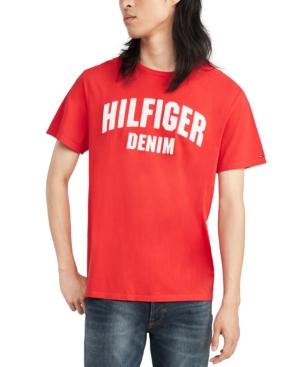 Tommy Hilfiger Denim Men's Koston Logo Graphic T-Shirt In Old Skool Red