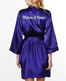 Embroidered 'Matron of Honor' Robe, Online Only